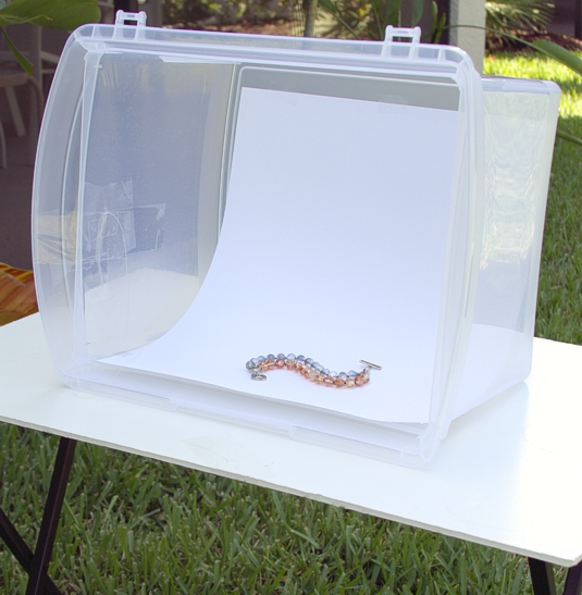 How to make a lightbox for photographing jewelry Quirky Oak